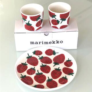 marimekko - マリメッコ マンシッカ ラテマグ プレート 3点セット