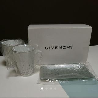 GIVENCHY - 【新品・送料込】ジバンシィ ペアマグカップ トレー 皿 付き コーヒーカップ