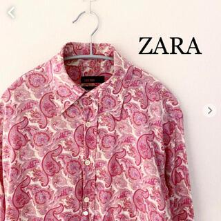 ZARA - ZARA ザラ 長袖シャツ 総柄 ペイズリー ザラ Mサイズ