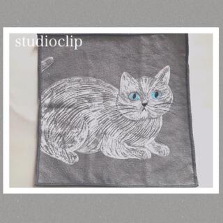 スタディオクリップ(STUDIO CLIP)のスタジオクリップ★コラボタオル★猫デザイン①★松尾ミユキ(タオル/バス用品)