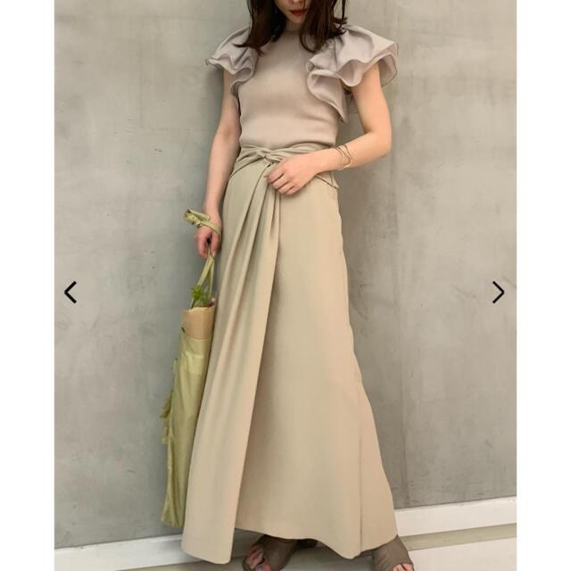 FRAY I.D(フレイアイディー)のツイストデザインスカート レディースのスカート(ロングスカート)の商品写真