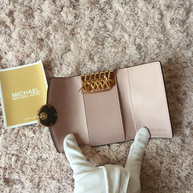 Michael Kors(マイケルコース)のマイケルコースのキーケース☆人気のピンク色 新品 SALE中❣️ レディースのファッション小物(キーケース)の商品写真