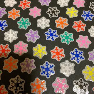 フレークシール 雪の結晶 36枚 9色(しおり/ステッカー)