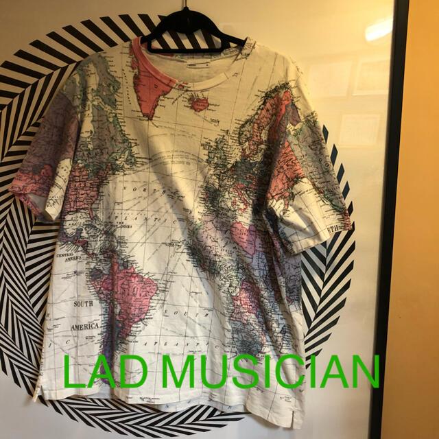 LAD MUSICIAN(ラッドミュージシャン)のLAD MUSICIAN  地図柄 ビックTシャツ メンズのトップス(Tシャツ/カットソー(半袖/袖なし))の商品写真