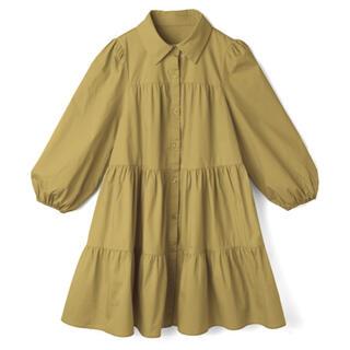 GRL - GRL ボリュームティアードシャツワンピース Sサイズ