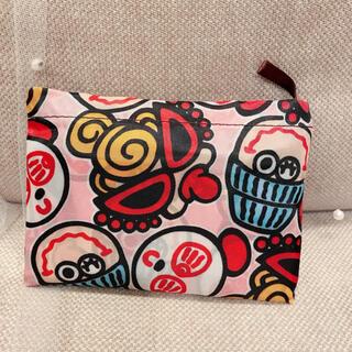 ミキハウス(mikihouse)の大きめエコバッグ  ピンク色ヒスミニ柄 ショッピングバッグ(エコバッグ)