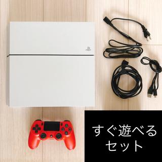 PlayStation4 - 【すぐ遊べる・美品】PS4 本体 ホワイト PlayStation®4