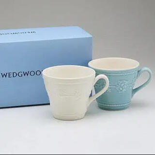 WEDGWOOD - 【新品未使用・送料込】Wedgwood マグカップ ブルー・アイボリー