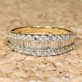 エタニティ ダイヤモンド 1カラット k18 ダイヤモンドリング