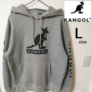 KANGOL - 美品 KANGOL プルオーバーパーカー ビックロゴ メンズ Lサイズ 即日対応
