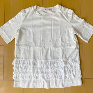 Marni - マルニ レース付きTシャツ