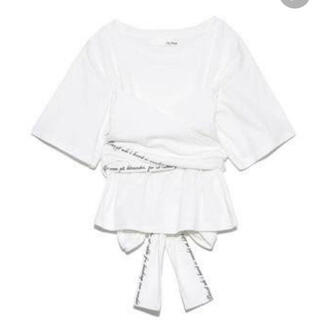 Lily Brown - リリーブラウン♡ バックリボン刺繍Tシャツ 人気