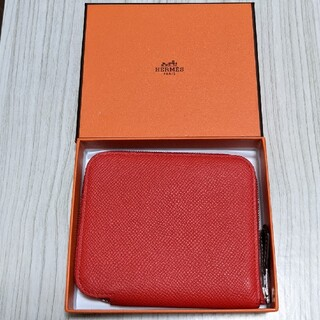 Hermes - ほぼ未使用☆HERMESアザップシルクインコンパクト シルクイン ミニ財布