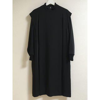 HYKE - HYKE ハイク MOCKNECK DRESS ブラック サイズ1