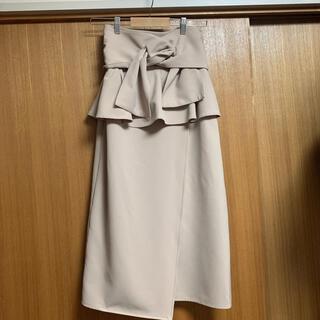snidel - スナイデル リボンディテールポンチスカート
