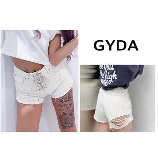 GYDA - 新品 GYDA BACK RIPPED レースUPデニムショーパン