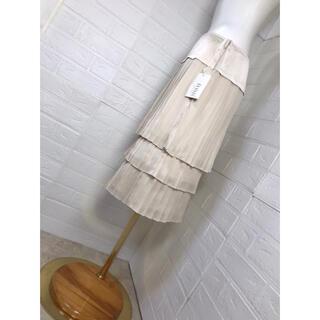 ジユウク(自由区)の自由区 未使用タグ付き サイズ40  プリーツ スカート(ひざ丈スカート)
