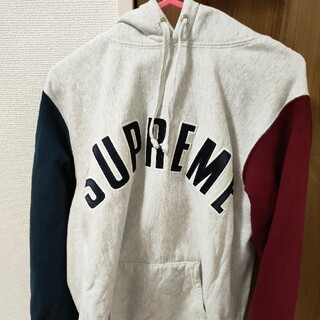 Supreme - Supreme Color Blocked Arc Logo Hoodie