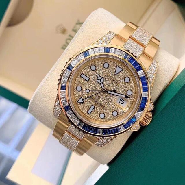 ROLEX(ロレックス)のロレックス GMTマスター 金無垢 フルダイヤ 116718 116758SA  メンズの時計(腕時計(アナログ))の商品写真