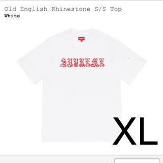Supreme - supreme old English rhinestone S/S top