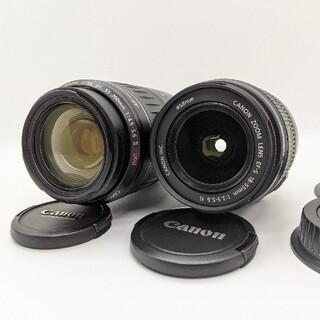 キヤノン(Canon)の【美品】Canon EF-S18-55 IS & EF 55-250 Ⅱ USM(レンズ(ズーム))