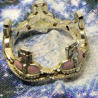 ヴィヴィアンウエストウッド(Vivienne Westwood)のヴィヴィアン ピンク ハート クラウンリング (リング(指輪))