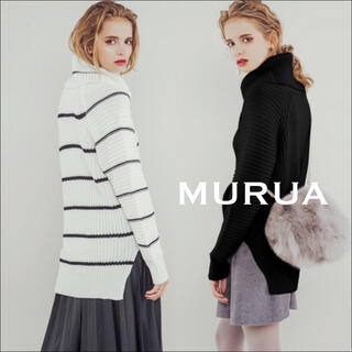 MURUA - MURUA ルーズスリーブオフタートル ニット*エモダ GYDA ジーナシス