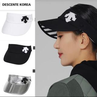 DESCENTE - デサント ビックロゴ サンバイザー 韓国