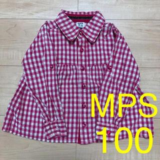 エムピーエス(MPS)のMPS ライトオン シャツ ブラウス トップス チェック 女の子 100(ブラウス)