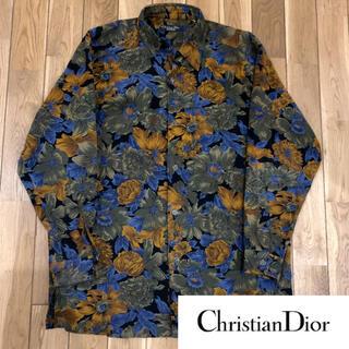 Christian Dior - クリスチャン ディオール    ヴィンテージ 花柄 コーデュロイ  シャツ