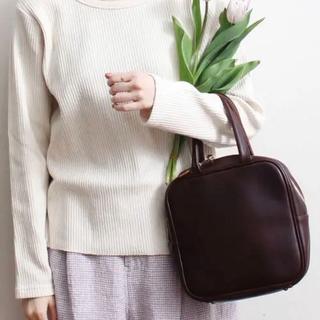 fig London - fig london grandma hand bag brown 本革 レザー
