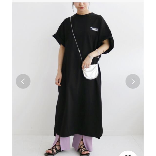 IENA(イエナ)の人気完売 オーバーサイズ Tシャツワンピース スローブイエナ  ビッグシルエット レディースのワンピース(ロングワンピース/マキシワンピース)の商品写真