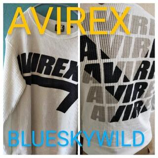 AVIREX - AVIREXアヴィレックスワッフル生地両面ワイルドプリント スエットトレーナー