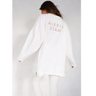 ALEXIA STAM - ALEXIASTAM★新品バックロゴロングTシャツ