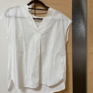 ジーユー(GU)のスーツ オフィス カジュアル 正装 シャツ 白 ホワイト ゆったり トップス(スーツ)