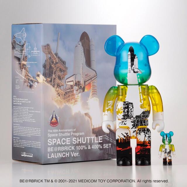 MEDICOM TOY(メディコムトイ)のSPACE SHUTTLE BE@RBRICK LAUNCH 100%&400% エンタメ/ホビーのフィギュア(その他)の商品写真