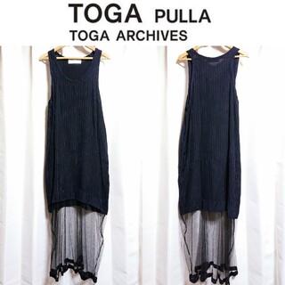 TOGA - TOGA PULLA❇️メッシュ切替 ストライプ ワンピース