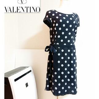VALENTINO - VALENTINO❇️ドット 総柄ワンピース