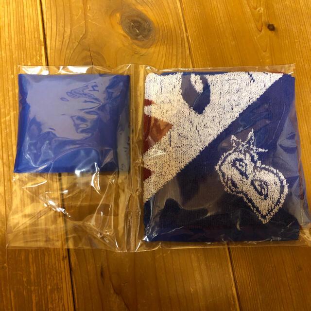 横浜DeNAベイスターズ(ヨコハマディーエヌエーベイスターズ)の非売品・横浜ベイスターズエコバッグ、タオルセット スポーツ/アウトドアの野球(応援グッズ)の商品写真