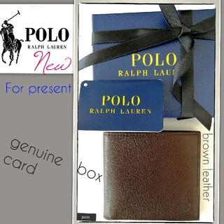 POLO RALPH LAUREN - 新品 セール★ ポロラルフローレン 折財布 国内正規 BOX付 贈り物に