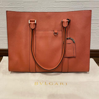 ブルガリ(BVLGARI)の正規品 美品 ブルガリ BVLGARI MAN レザー トートバッグ 鞄(トートバッグ)