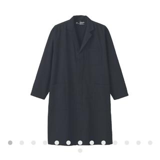 ムジルシリョウヒン(MUJI (無印良品))のMUJI Laboインド綿デニムコート男女兼用SーM・黒(スプリングコート)