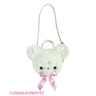 Angelic Pretty - Milkyベアーフェイス3wayバッグ シロ