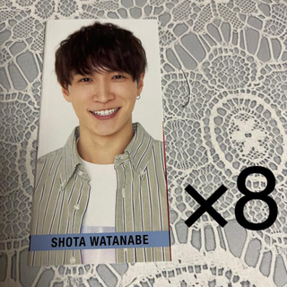 Johnny's - Myojo SMILE メッセージカード SnowMan 渡辺翔太 8枚