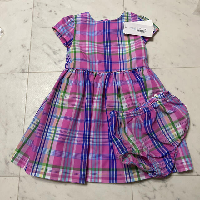 Ralph Lauren(ラルフローレン)の新品未使用 ラルフローレン ワンピース ピンク キッズ/ベビー/マタニティのベビー服(~85cm)(ワンピース)の商品写真