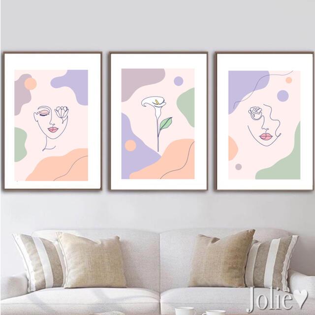 インテリアポスター 3枚セット 韓国 マティス タペストリー アートポスター エンタメ/ホビーの美術品/アンティーク(絵画/タペストリー)の商品写真