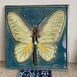 リサラーソン(Lisa Larson)のLISA LARSON リサラーソン 蝶 butterfly  陶板(陶芸)