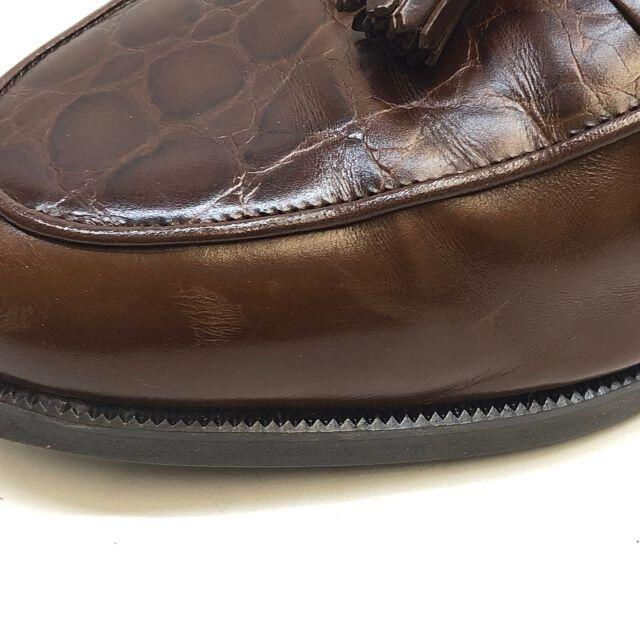 Saint Laurent(サンローラン)のイヴサンローラン タッセル ローファー レザー ブラウン メンズの靴/シューズ(ドレス/ビジネス)の商品写真
