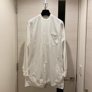 COMOLI - COMOLI コモリ バンドカラーシャツ コモリシャツ ホワイト 1