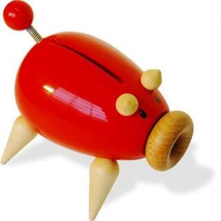 ヴィラック(vilac)のフランス木製玩具 Vilac (ヴィラック) ブタの貯金箱(日用品/生活雑貨)